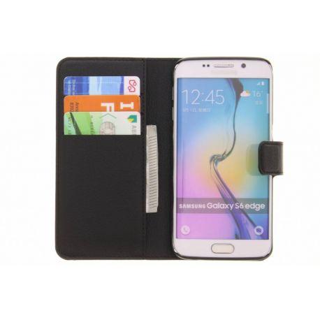 Samsung Galaxy S6 Edge Wallet Case Black