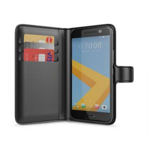 HTC 10 Wallet Case Black