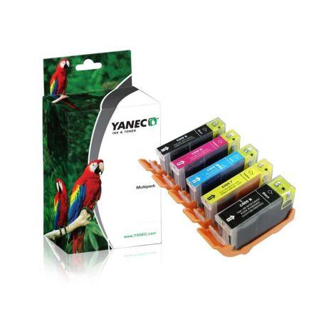 Yanec PGI-5/CLI-8 Zwart en Kleur (5 Pack)