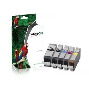 Yanec PGI-520/CLI-521 Zwart en Kleur (5 Pack)