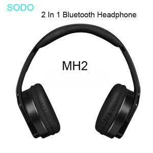 Sodo MH2 Bluetooth 2 IN 1 Twist-Out Speaker & Wireless Headphone Headset