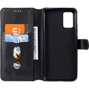 Samsung Galaxy A02s Hoesje Portemonnee Retro Book Case Zwart