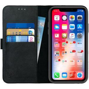 Rosso Deluxe Apple iPhone Xr Wallet Case Zwart