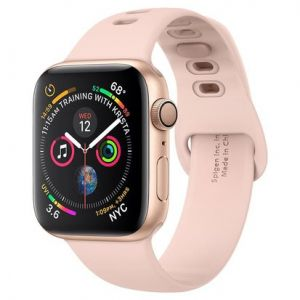 Apple Watch Series 6 Sport 44mm Gold (Pink Silicone Strap)