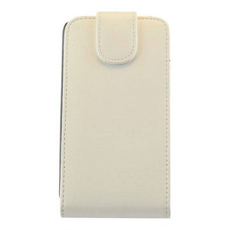 Samsung S4 Flip case van wit leer
