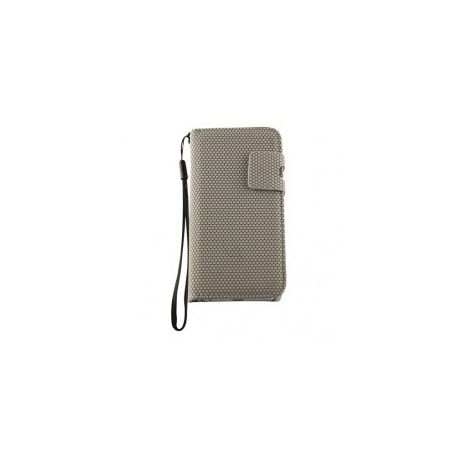Iphone 5 - Wallet case - Dots - Gray