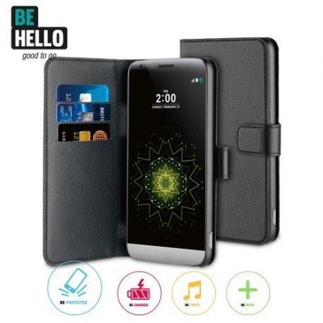 LG G5 Wallet Case Black
