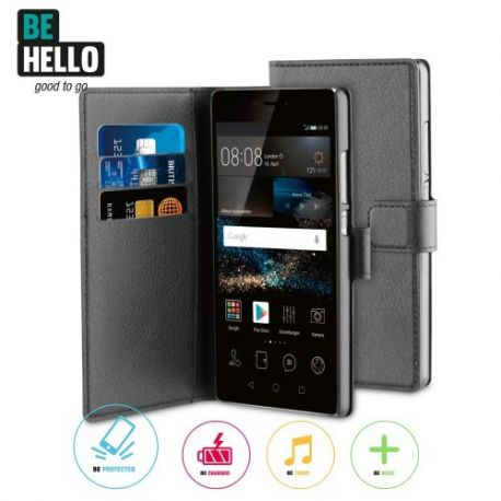 Huawei P9 Wallet Case Black