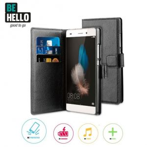 Huawei P8 Wallet Case Black