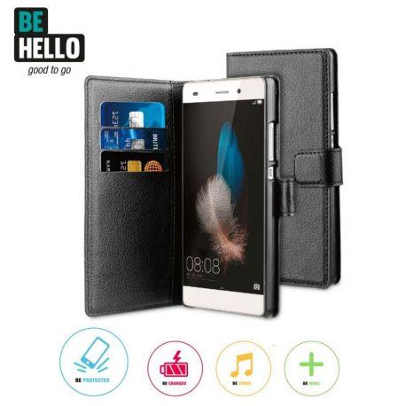 Huawei P8 Wallet Case Black
