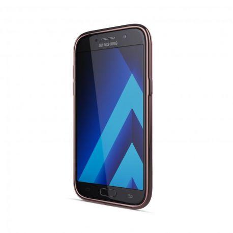 Samsung Galaxy A5 2017 Gel Case Transparent Chrome Edge Pink