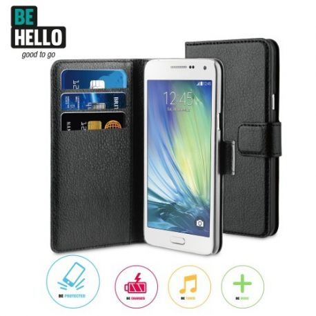 Samsung Galaxy A5 Wallet Case Black