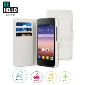 Huawei Ascend Y550 Wallet Case White