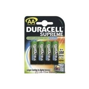 Duracell HR6 AA 4-pack Nikkel-Metaalhydride (NiMH) 2650mAh 1.2V oplaadbare batterij/accu