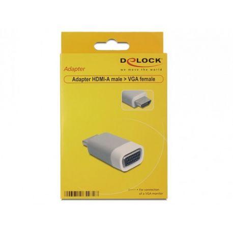 DeLock Adapter HDMI-A male>VGA female