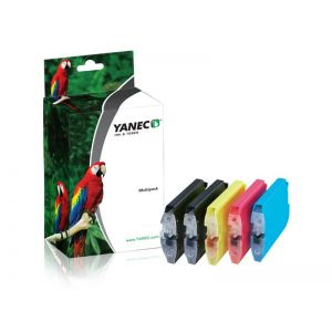 Yanec LC-1100/LC-980/LC-985 Zwart en Kleur (5-Pack)(Brother)