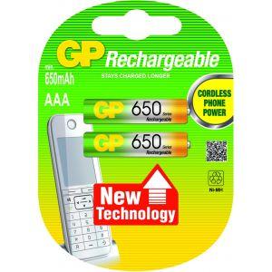 GP Batteries NiMH rechargeable batteries AAA Nikkel Metaal Hydride 650mAh 1.2V oplaadbare batterij/accu