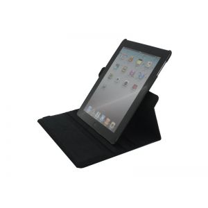 Xccess Roterende Lederen Stand Case Apple iPad 2/3/4 - Zwart voor Apple iPad 2/3/4