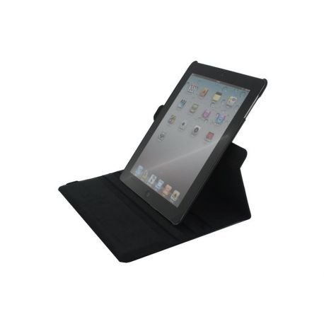 Xccess Roterende Lederen Stand Case Apple iPad 2/3/4 - Zwart voor Apple iPad 2/3/4