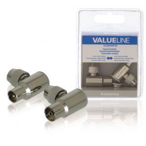 Valueline - Connectorpakket voor antenne - 90° connector