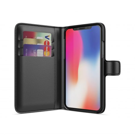 BeHello iPhone X Wallet Case 3 Cardslots Black