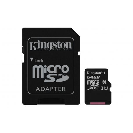 Kingston Technology Canvas Select 64GB MicroSDXC UHS-I Klasse 10 flashgeheugen