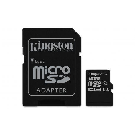 Kingston Technology Canvas Select 16GB MicroSDHC UHS-I Klasse 10 flashgeheugen