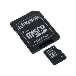 Kingston 16GB MicroSDHC Geheugenkaart Class 4 incl. Adapter