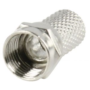 F-Connector 7.0 mm Male Metaal Zilver