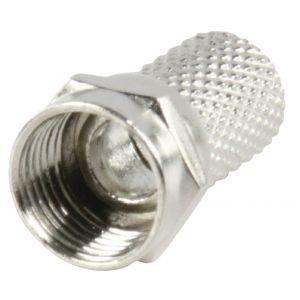F-Connector 7.0 mm Male Metaal Zilver