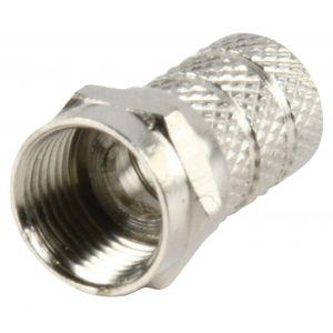 F-Connector 8.0 mm Male Metaal Zilver
