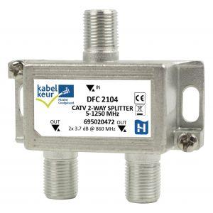 CATV-Splitter 3.5 dB / 5 - 1250 MHz - 2 Uitgangen