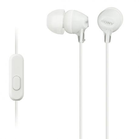 Sony MDR-EX15AP In-ear Stereofonisch Bedraad Wit mobielehoofdtelefoon