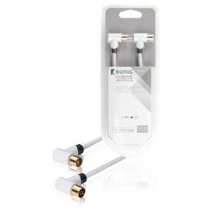 100 dB Coaxkabel Coax Male (IEC) - Coax Female (IEC) 2.00 m Wit