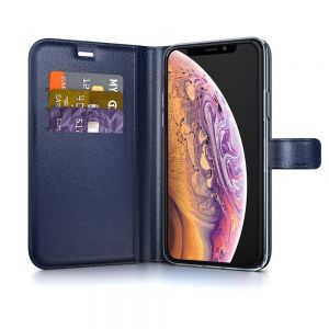 BeHello Gel Wallet Case Blauw voor iPhone X | Xs